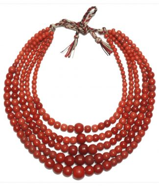 Five Strand Prosser Glass Bead Necklace | Ukraine